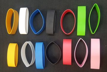 Wrist Elastic Bands, per pair , Individual Coloured