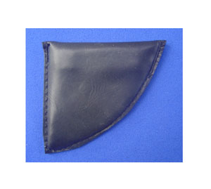 Leather covered lead weights, 500gm, (1lb)